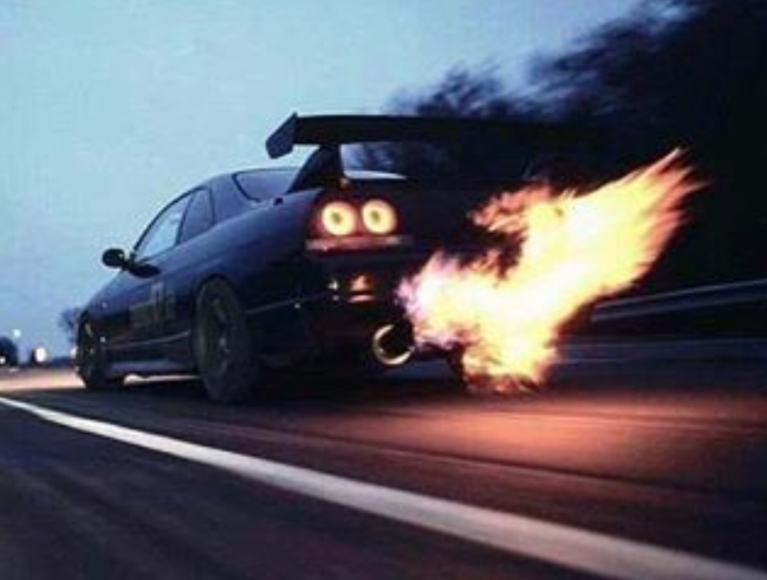 Exhaust Fire looking like an angry car